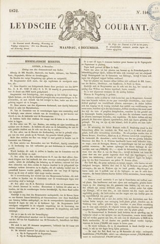 Leydse Courant 1852-12-06