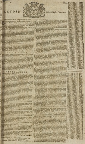 Leydse Courant 1772-01-20