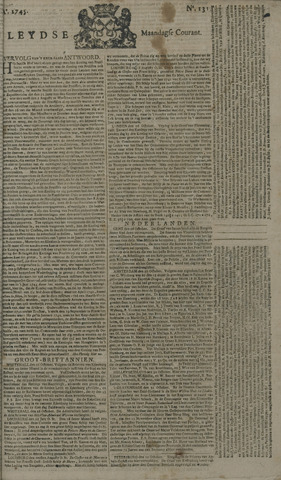 Leydse Courant 1745-11-01