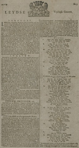 Leydse Courant 1729-01-07