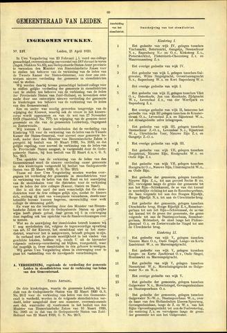 Handelingen van de Raad 1920-04-21