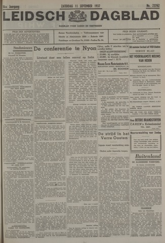 Leidsch Dagblad 1937-09-11