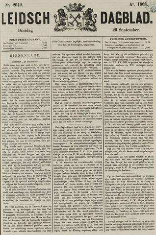 Leidsch Dagblad 1868-09-29