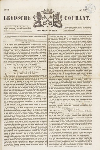 Leydse Courant 1862-04-30