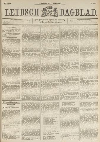 Leidsch Dagblad 1893-10-27
