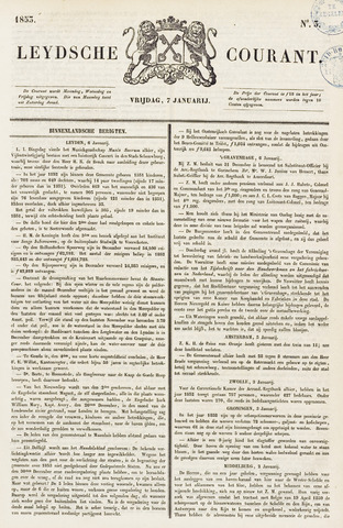 Leydse Courant 1853-01-07