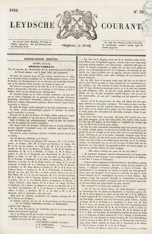 Leydse Courant 1852-06-11