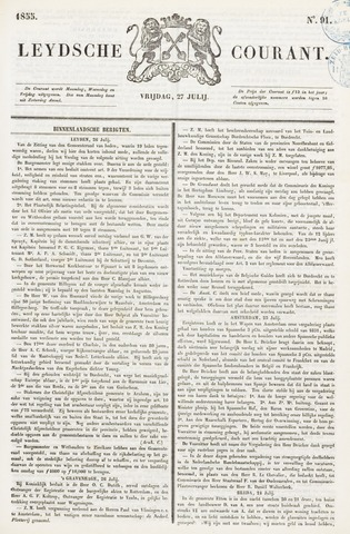 Leydse Courant 1855-07-27