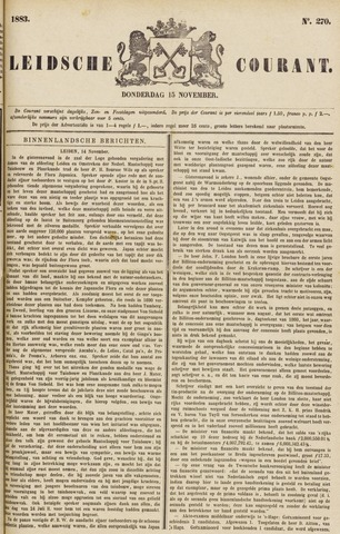 Leydse Courant 1883-11-15
