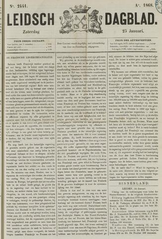 Leidsch Dagblad 1868-01-25