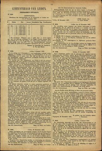 Handelingen van de Raad 1887-12-11