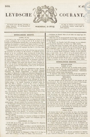 Leydse Courant 1852-07-21