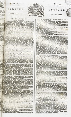 Leydse Courant 1843-11-22