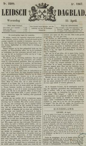 Leidsch Dagblad 1867-04-24
