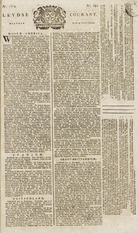 Leydse Courant 1814-11-28
