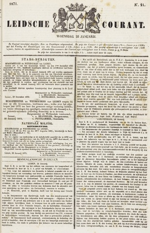 Leydse Courant 1871-01-25