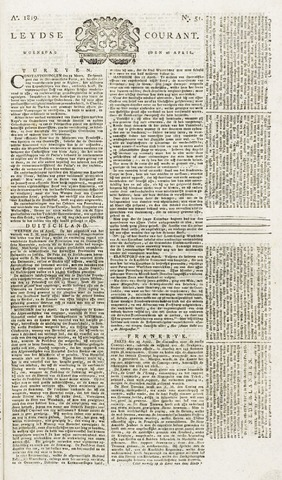 Leydse Courant 1819-04-28
