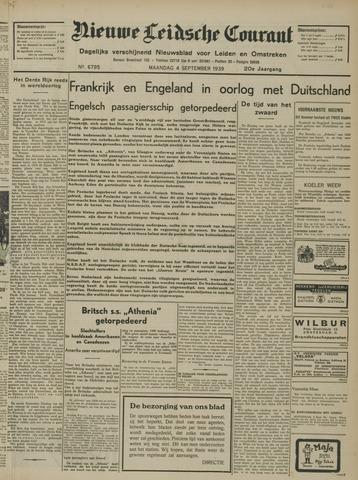 Nieuwe Leidsche Courant 1939-09-04