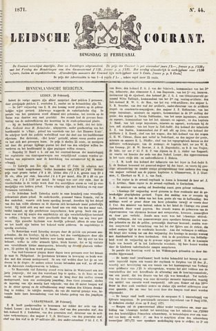 Leydse Courant 1871-02-21