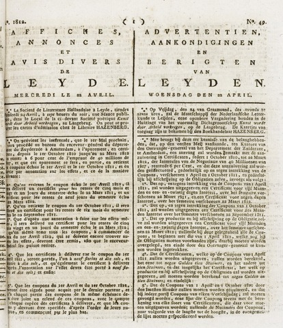 Leydse Courant 1812-04-22