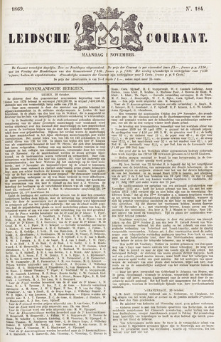 Leydse Courant 1869-11-01