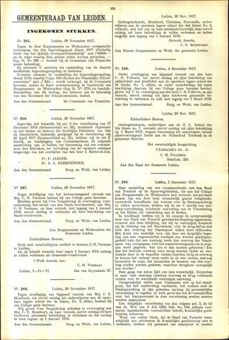 Handelingen van de Raad 1917-11-28