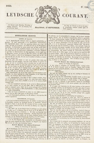 Leydse Courant 1852-09-27
