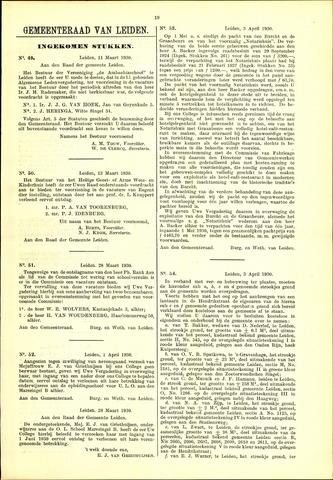 Handelingen van de Raad 1930-03-11
