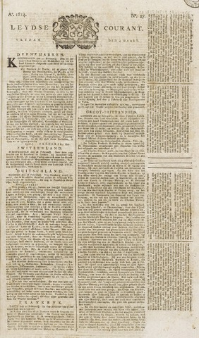 Leydse Courant 1814-03-04