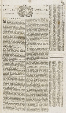 Leydse Courant 1814-08-17