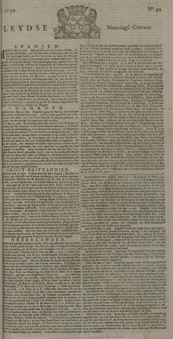 Leydse Courant 1739-08-03