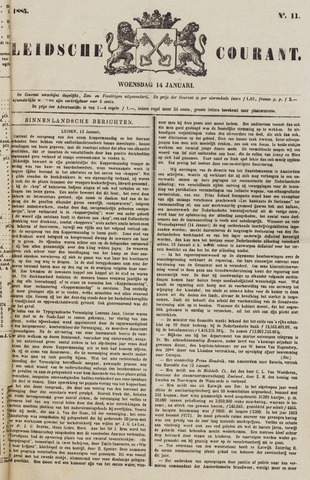 Leydse Courant 1885-01-14