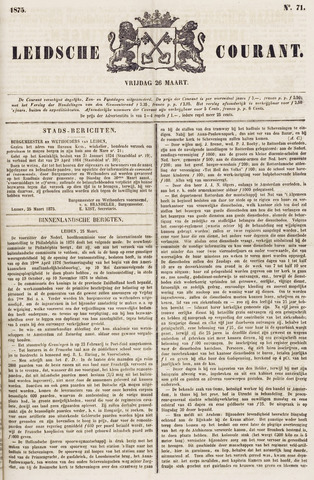 Leydse Courant 1875-03-26