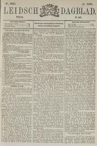 Leidsch Dagblad 1878-07-12
