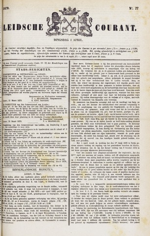 Leydse Courant 1879-04-01
