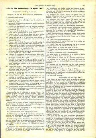 Handelingen van de Raad 1907-04-18