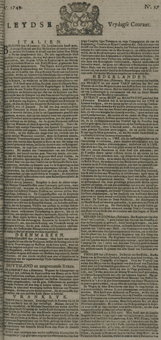 Leydse Courant 1749-02-07