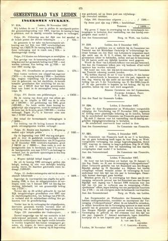 Handelingen van de Raad 1907-11-30