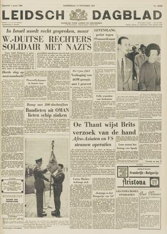 Leidsch Dagblad 1961-12-14