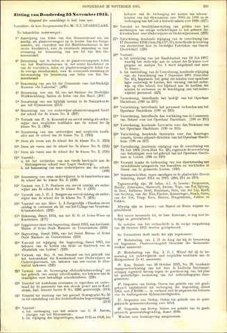 Handelingen van de Raad 1915-11-25