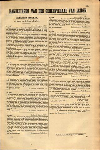 Handelingen van de Raad 1873-08-18