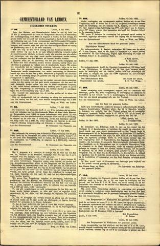 Handelingen van de Raad 1885-07-06