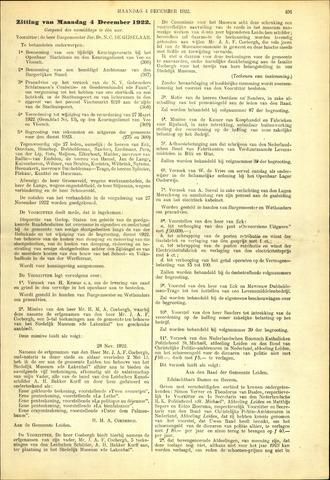 Handelingen van de Raad 1922-12-04