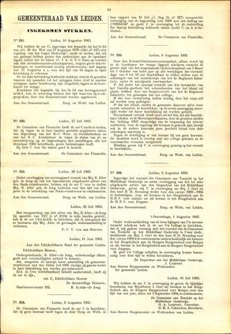 Handelingen van de Raad 1903-08-10