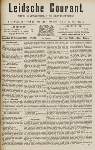 Leydse Courant 1885-09-17