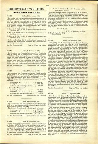 Handelingen van de Raad 1902-09-15