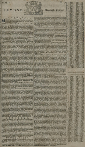 Leydse Courant 1748-03-25
