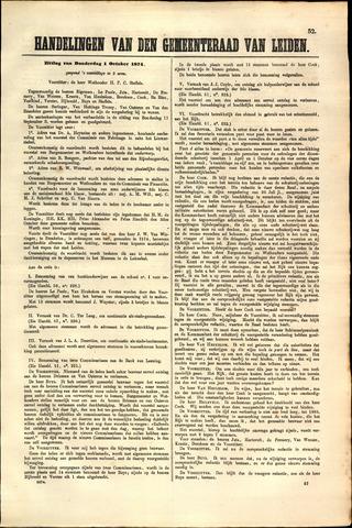 Handelingen van de Raad 1874-10-01