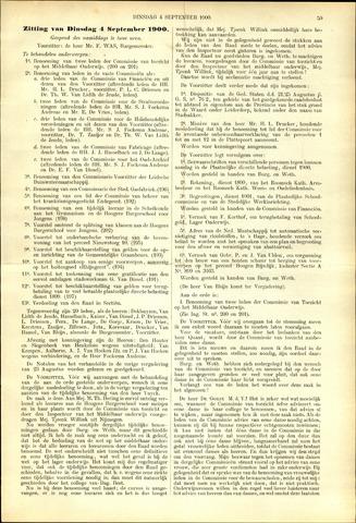Handelingen van de Raad 1900-09-04