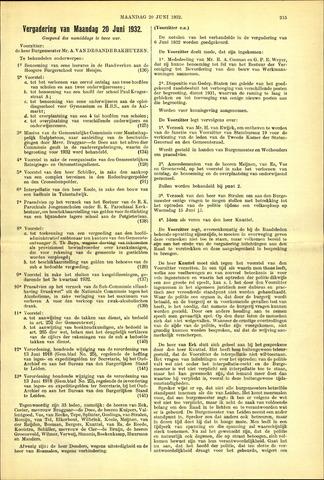 Handelingen van de Raad 1932-06-20